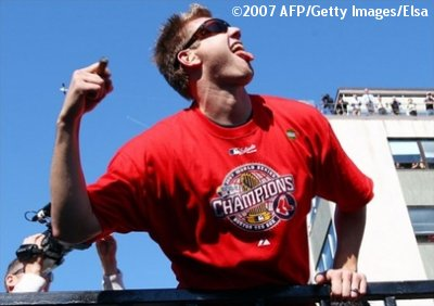 Jonatham Papelbon @ 2007 Red Sox World Series Championship Rolling Rally